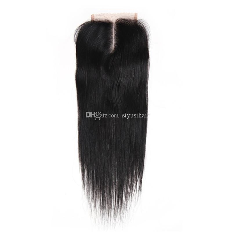 Перуанский малайзийский Индийский бразильский девственница прямые волосы ткет пучки с закрытием 8A пучок человеческих волос с закрытием кружева