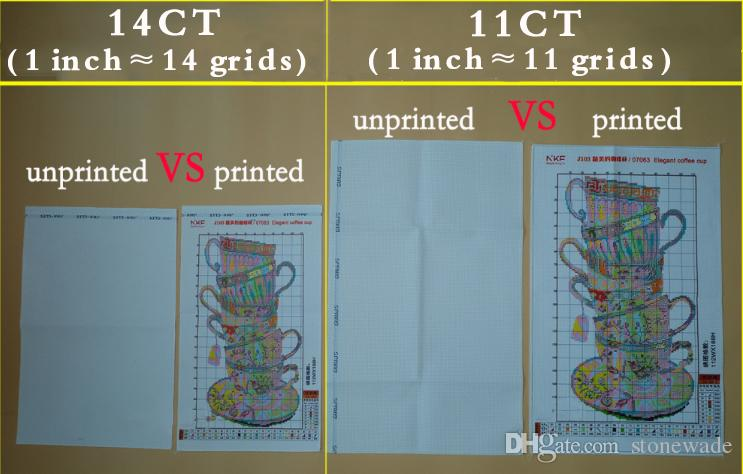 Lavanda champagne, fai da te a mano punto croce set di cucito kit di ricamo dipinti contati stampati su tela DMC 14CT / 11CT