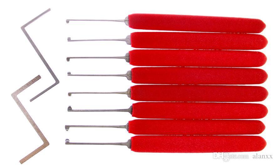 새로운 모델 HUK Kaba 잠금 두 긴장 wrenches와 도구를 자물쇠 도구 빨간색 핸들