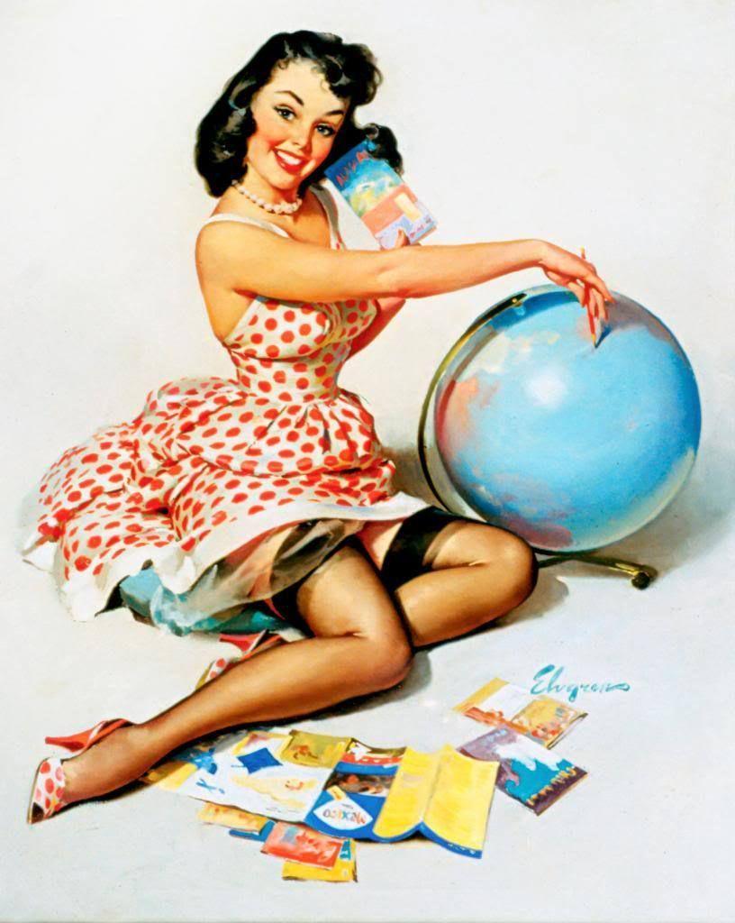 Acheter Vintage Pin Up Girl Gil Elvgren Affiche De Peinture A L