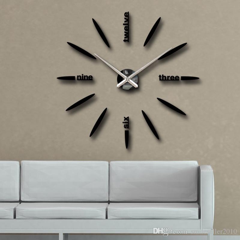 wholesale decorative wall clocks horloge murale diy art 3d digital