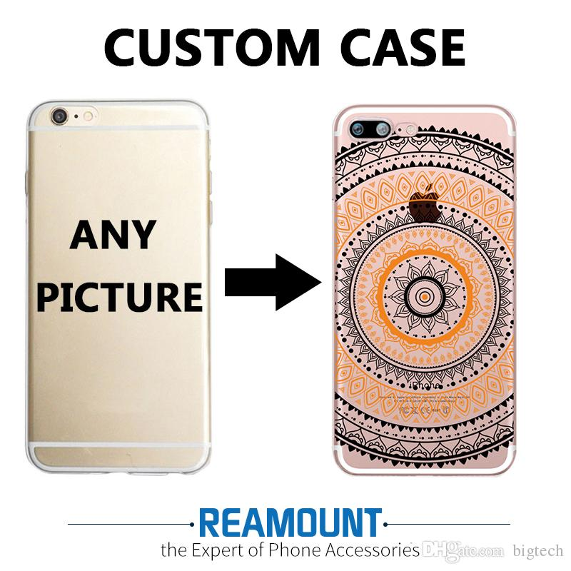 check out fc50a d9cd8 3D Relief Personalized DIY Customized Cell Phone Slim Cover TPU  Professional case for Iphone 6 DIY Customize Photo Pictures