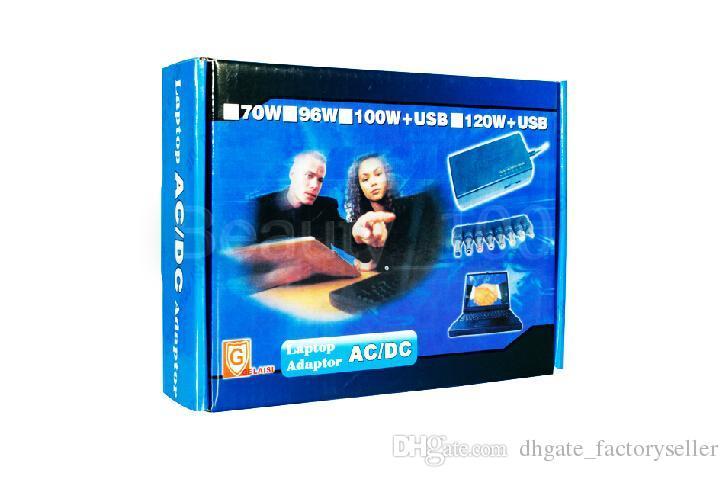 Caricatore universale notebook Alimentatore notebook Caricabatterie esterno 96W Tensione regolabile 12-24v HP DELL IBM Lenovo ThinkPad EU / US / UK / AU