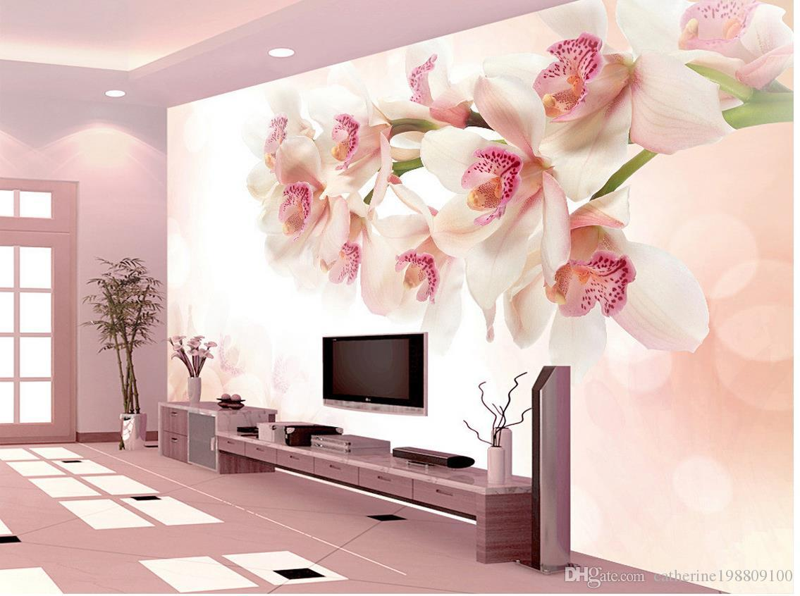 زهرة خلفية اللوحة الجدار الديكور جدارية 3D خلفية 3D ورق الجدران للتلفزيون خلفية
