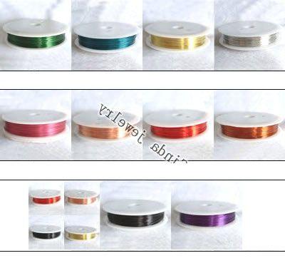 10Rolls / partij Sieraden Bevindingen Componenten Koord Koperdraad Voor DIY Fashion Craft Gift Wi2