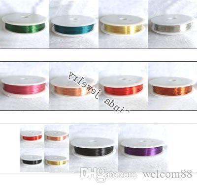 Livraison Gratuite 10 Rouleaux / Résultats de Bijoux Composants Cordon Fil De Cuivre Pour DIY Artisanat Bijoux Cadeau WI2