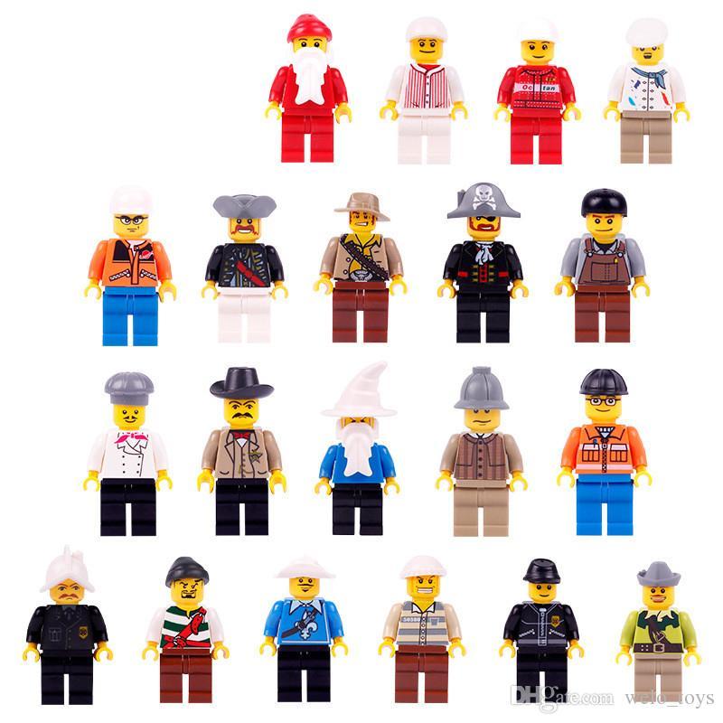 20 teilelos Kinder Bausteinziegelsteine Mini Cartoon Multi Rollen Figuren Puppe Spielzeug Kleine Partikel Kinder Puzzle Spielzeug Modell