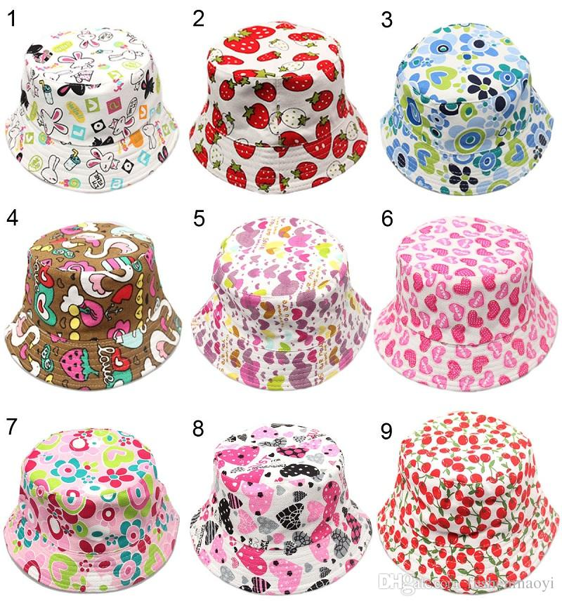 ba6671edec8 30 Styles Children Bucket Hats Gilligan Kids Stingy Brim Hats Floral ...