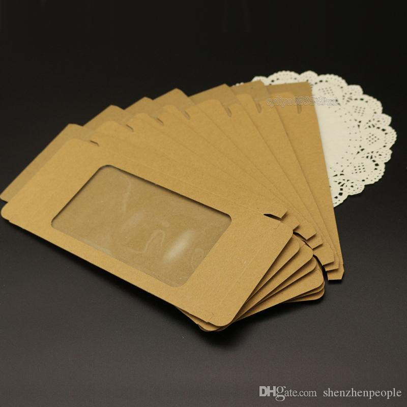 Universal Plaine Kraft brun papier emballage de Détail Boîte Boîtes Pour Téléphone Cas couverture htc blackbarry sony pour mobile téléphone et téléphone intelligent