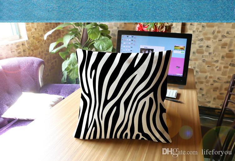 cuscino decorativo zebra divano o auto cuscino di arredamento la casa creativo con doppi lati stampa lino cotone federa 17,7 pollici
