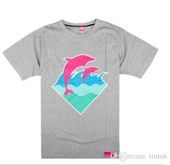 Dauphin rose t-shirt mode estivale tee-shirt coton hommes blouse skateboard t shirt Rock tops chemises léopard S-XXXL