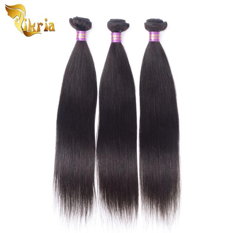 Brazilian Virgin Human Hair Weave Bundles Peruvian Malaysian Indian Straight Hair Extensions Wet And Wavy 3 Bundles Straight Hair
