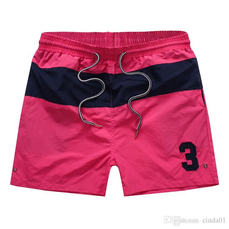 Schwimmen Kleidung Männer Sommer Board Shorts Nummer 3 Gedruckt Strand Shorts Männer Surf Shorts Kleine Pferd Badehose Sport de bain homme