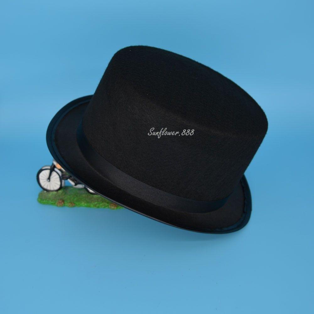 502a65187 Wholesale-Black Children Kids Boy Girl Top Hat Cap Fancy Dress Costumes  Party Wedding Stage Dance Show