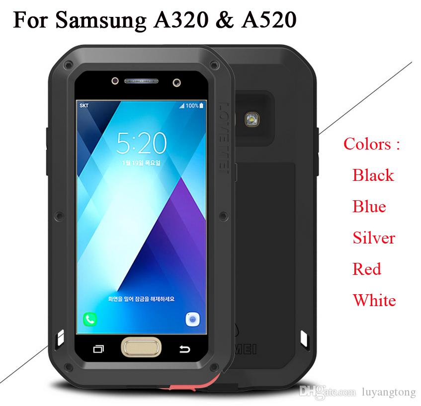 promo code 81561 f6284 for Samsung Galaxy A5 2017 A520 Case LOVE MEI Shock Dirt Proof Water  Resistant Metal Armor Cover Phone Case for Galaxy A3 A320 Lovemei Brand