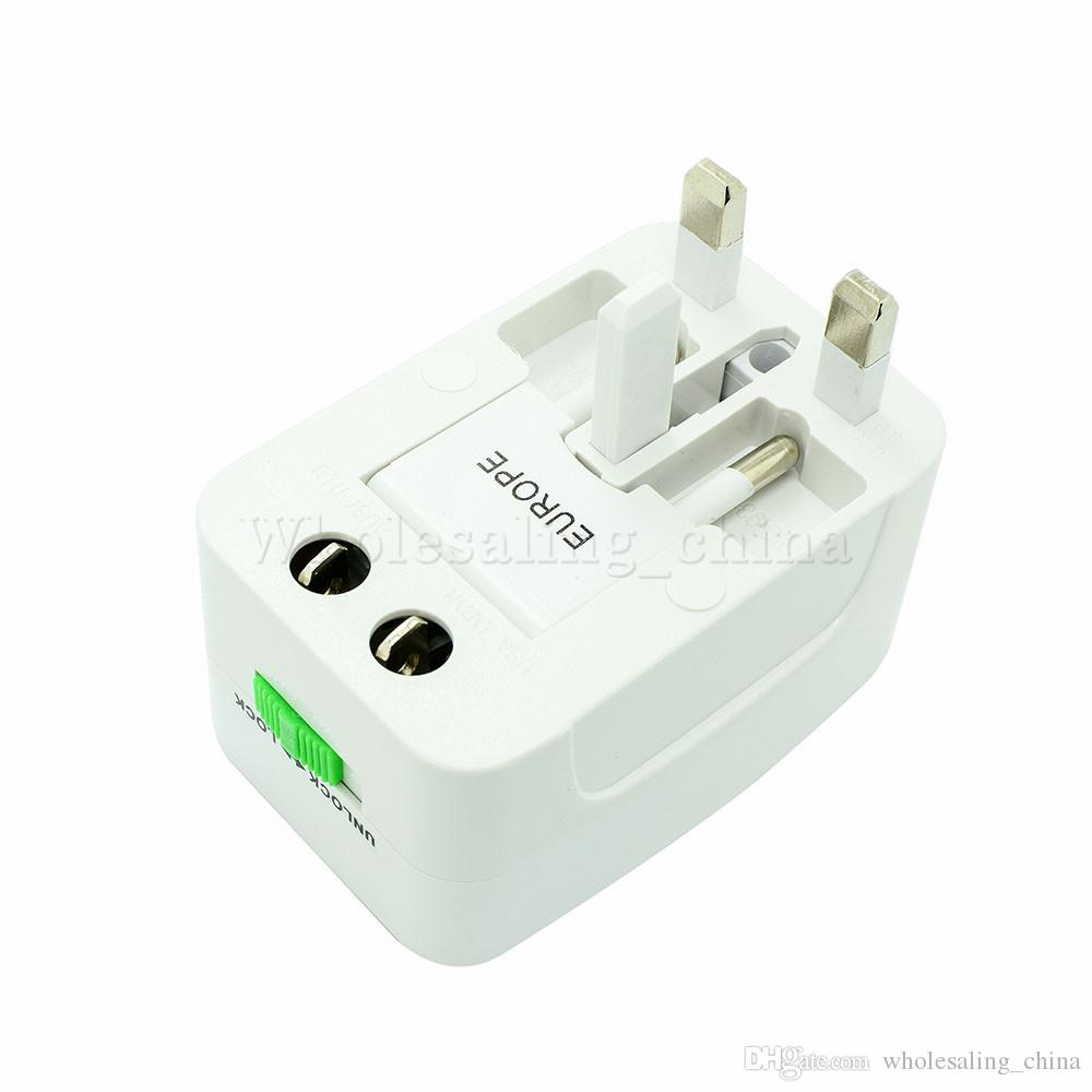 Nuovo All-One Universal International Plug Adapter World Travel Adattatore caricabatterie CA con spina UK US EU Plug