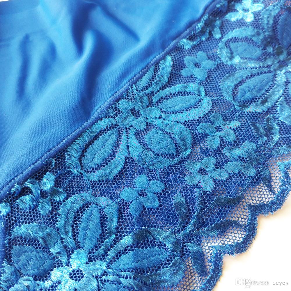Tek parça Kadınlar buz ipek Külot Dikişsiz ince Iç Çamaşırı kadın Külot dantel Intimates bragas de mujeres la ropa İç 7 renkler 9002
