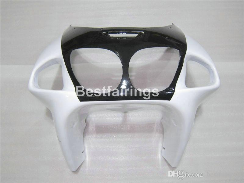 Kit de carenado de plástico de alta calidad para Kawasaki Ninja ZX7R 96 97 98 99 00-03 carenados de color blanco negro ZX7R 1996-2003 TY14