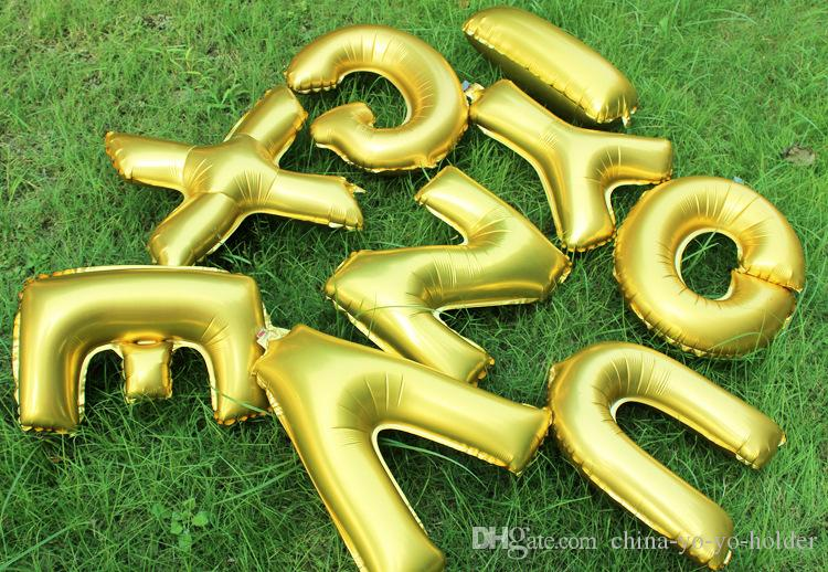 16 Pulgadas de Oro de Plata Carta del Alfabeto Globos Papel de Aluminio Globos Fiesta de Cumpleaños Decoración de Boda Fiesta de Navidad C154Q