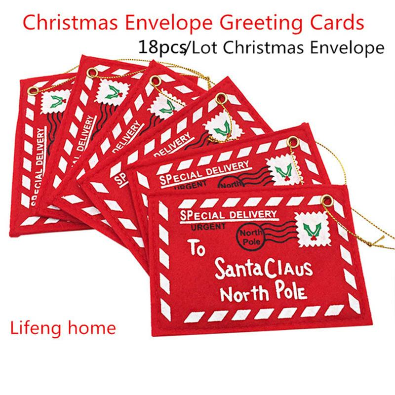 New Red Christmas Envelope Greeting Cards Candy Bag Perfect Gifts For Friends Online Birthday Card From Kaiyue608