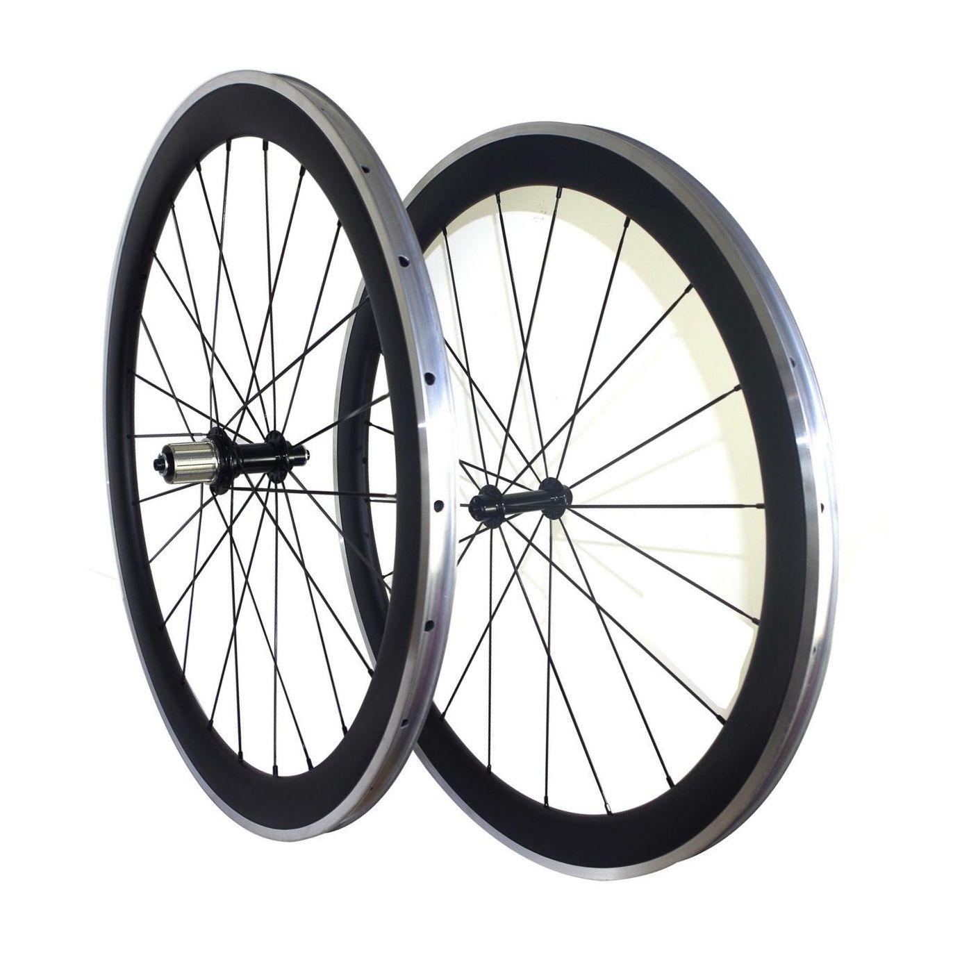 Carbon Bicycle Wheels 700C Road Bike Carbon+Aluminium Alloy Brake 38mm Depth*23mm Width Clincher Rim 3K/UD Glossy/Matte Surface