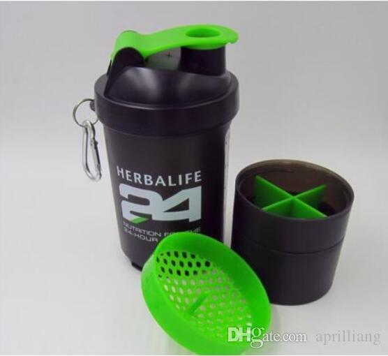 Outdoor Sports Herbalife 24 Sectional Water Bottle Shake Cup Cycling Camping Portable Vacuum Flask Lip Black Wide Mouth Bottles 500ML 18 OZ