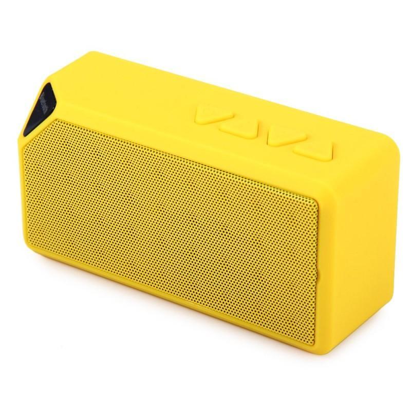 X3 سماعة بلوتوث صغيرة TF USB راديو FM موسيقى محمولة صندوق صوت مضخم صوت مكبرات صوت مع مايكروفون لنظام التشغيل iOS Android