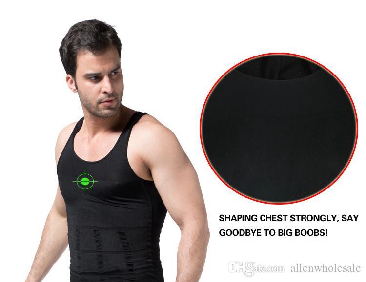Slim Lift para hombres que adelgaza la camisa del chaleco Body Shaping Opp Bag Empaquetado / Envío gratuito