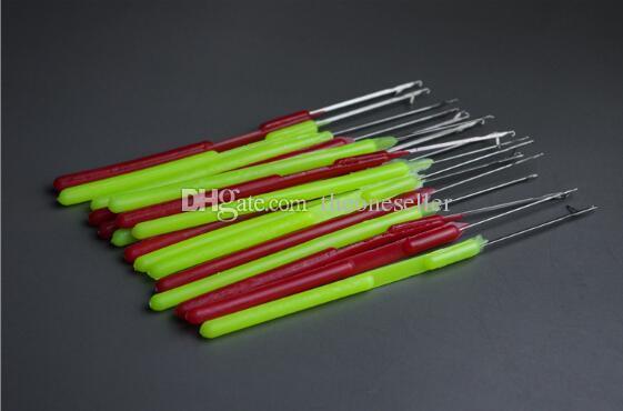 Plastic Handle Pulling Needle,Micro Rings/Loop Needle Hair Extensions Tools