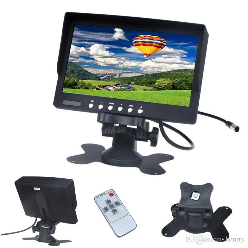 7 Inch TFT Car Desktop Monitor PZ708 800 RGB 480 PALNTSC DC 12V 24V 2 Way Video Input Automatically Display When Reversing DHL