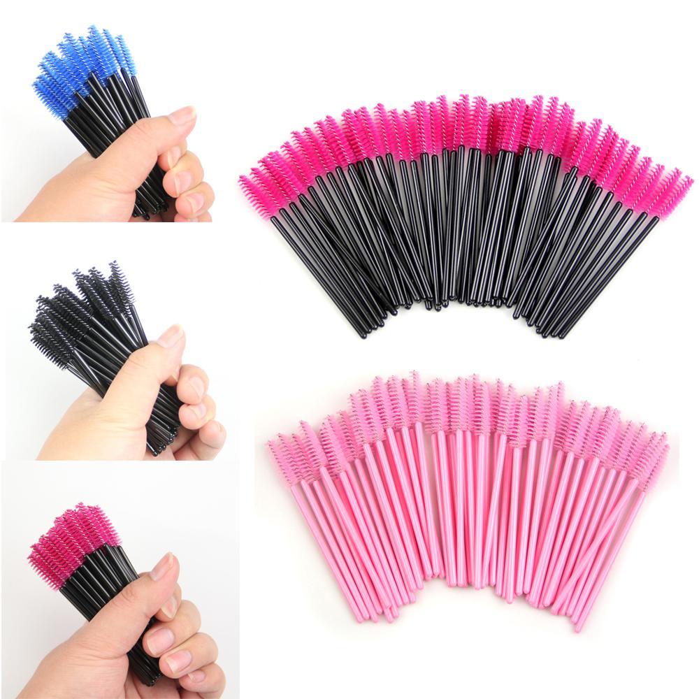 Mesh Hello Kitty Brush Pot Eyes Aplicator All In One 1 Pc Spec Dan Kuas Kabuki Pack Off Disposable Eyelash Mascara Applicator Wand Comb Brushes Cosmetic
