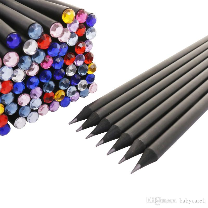 Pencil Hb Diamond Color Pencil Stationery Items Drawing Supplies Cute Pencils For School Basswood Office School Cute