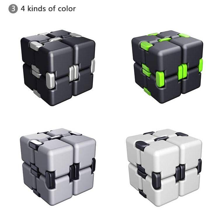 2017 80x40x20mm Infinite Square Toy Luxury EDC Infinity Cube Mini Stress Relief Fidget Anti Anxiety Toys Funny Novelty Christmas Kids Gift