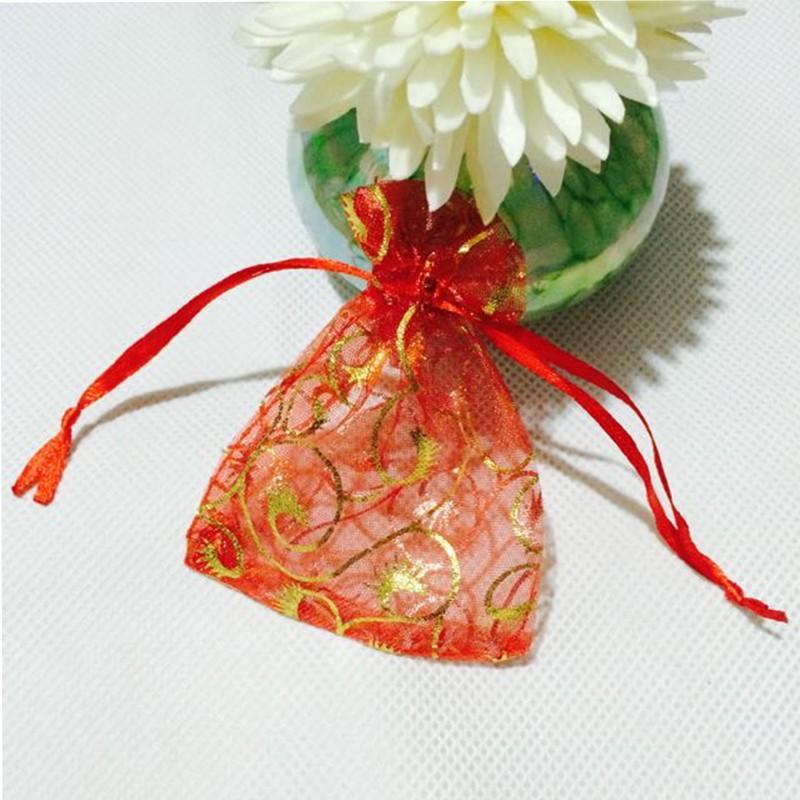 7 * 9 cm 50 pezzi Sacchetti di organza Sacchetto regalo di nozze Gioielli Caramelle Souvenir matrimonio decorazioni natalizie matrimonio 7 * 9 cm