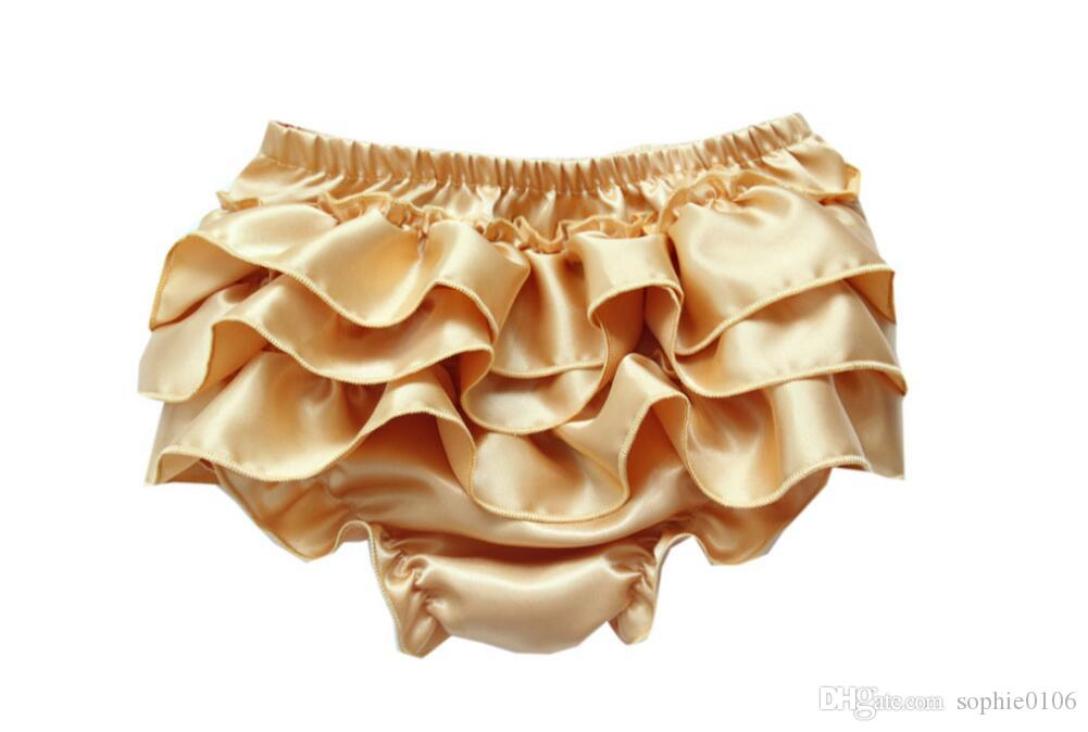 Baby Infant Satin Bloomers Girls Boys Baby Pettiskirt Pants Infant petto Lace Briefs Ruffle PP Underpants toddler Girl's bloomer KLX L006