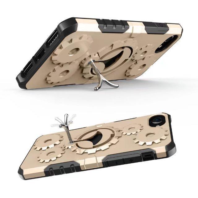 Per Samsung Galaxy S8 Cover Nuovo Gear Armor Case con funzione Stent Soft TPU + Hard Mobile Cell Band per S8