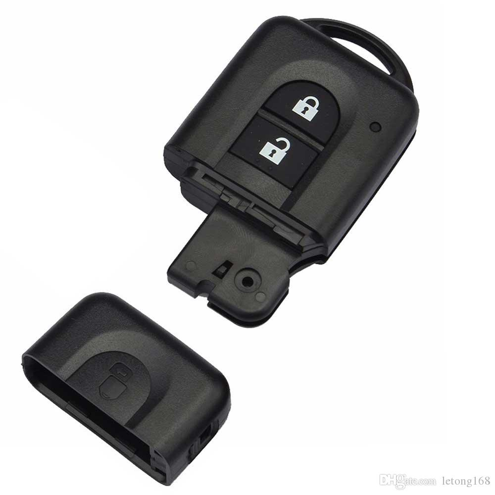 2 Button Remote key FOB Case Shell With cr2032 Battery For Nissan Micra X trail Qashqal Juke Duke Navara