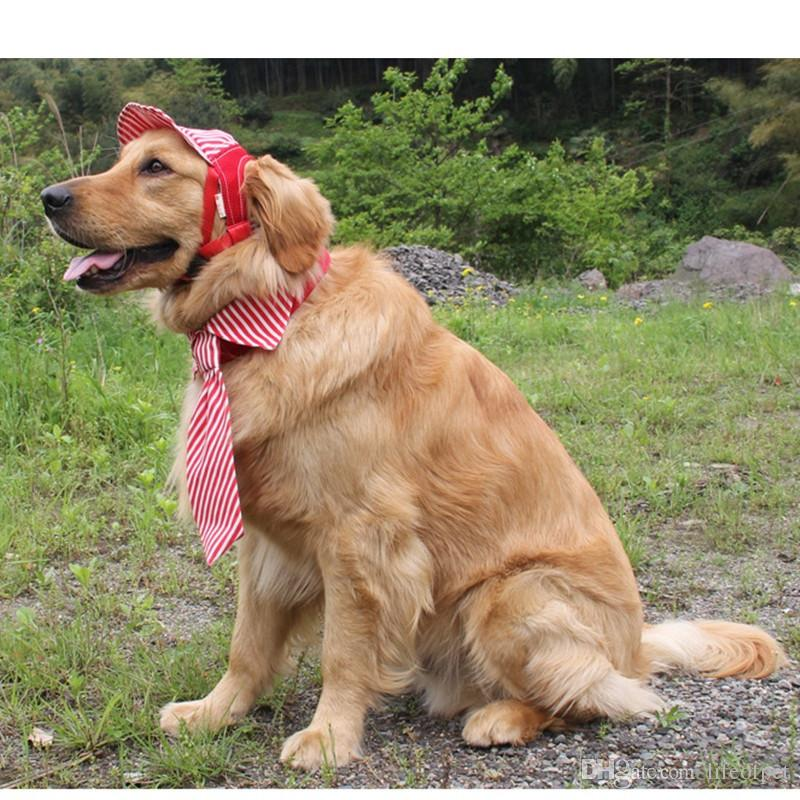 Compre Rayas Para Mascotas Sombrero De Perro Gorra De Béisbol Deportes A  Prueba De Viento Deportes Sombreros Para El Sol Para Cachorro Perros  Grandes Traje ... 5a6e7fe988d