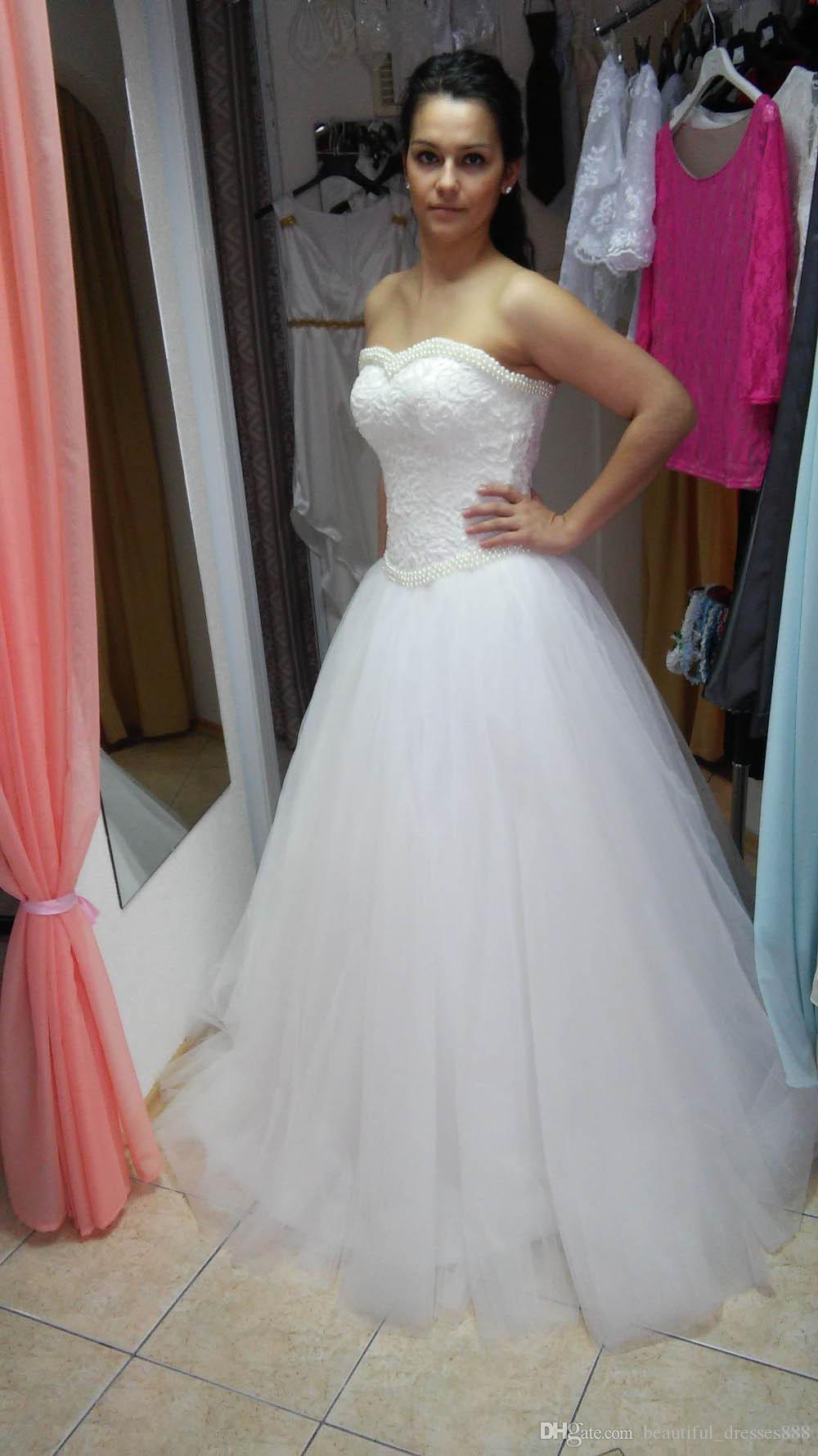Vestidos de novia blanco natural