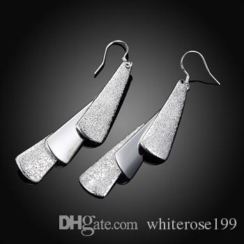 Hurtownie - Najniższa cena Boże Narodzenie prezent 925 Sterling Silver Fashion Earrings E015