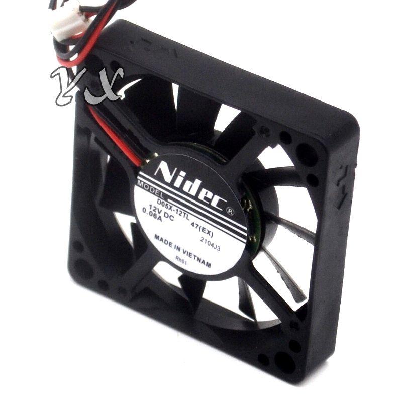 Nuevo y original D05X-12TL 12V 0.06A 5010 5CM 5 ventilador de refrigeración ultra silencioso para NIDEC 50 * 50 * 10mm