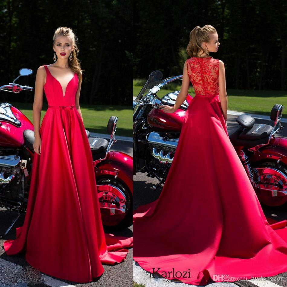 Daria Karlozi 2017 A Line Prom Dresses Appliques Beads Delicate ...