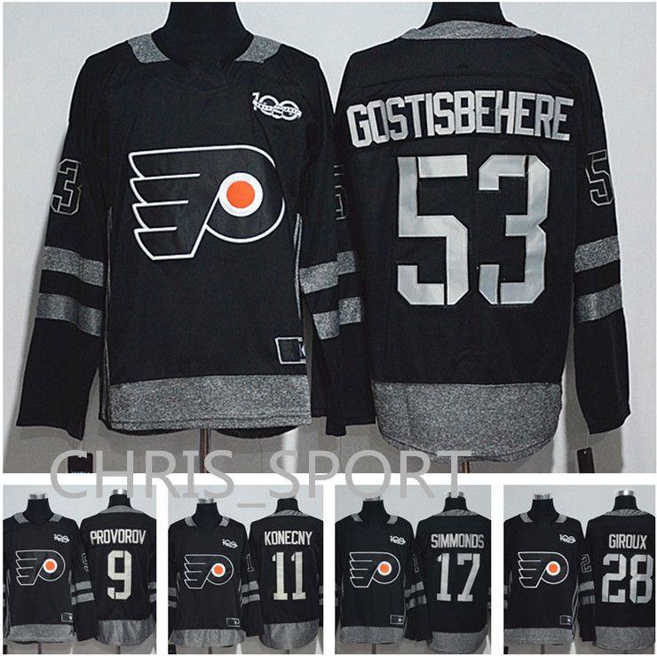 7fd9ea577 Philadelphia Flyers 100th Anniversary Jersey #53 Shayne Gostisbehere ...