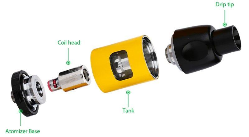 Kanger K-Pin Kit Eingebaute Li 2000mah Batterie mit 4ML Kapazität Tank 5 LED Licht SSOCC Spulen Kompatibel Einzigartiges Design 100% Original