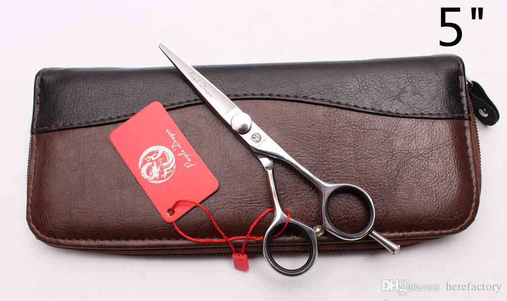 "Z1021 5"" 5.5"" 6"" Japan 440C Purple Dragon Professional Human Hair Scissors Barbers' Scissors Cutting Thinning Shears Salon Style Tools"
