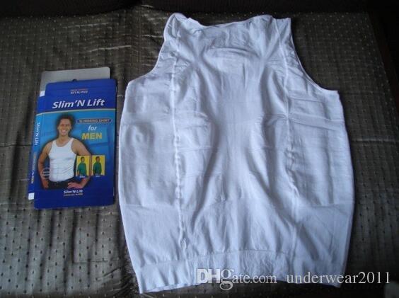 Nova mens camisa de emagrecimento Novo shaper do corpo para homens homem shapewear 140D D532