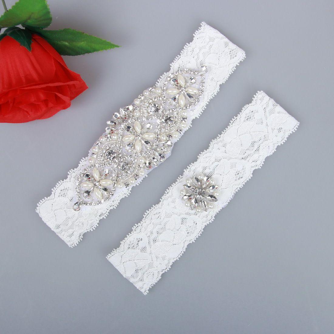 d6f2d2c8273 Wedding Garters For Bride Lace Bridal Garters White Ivory Bridal Wedding  Garter Set Belt Cheap Wedding Leg Garters In Stock Full Length Petticoats  Garter ...