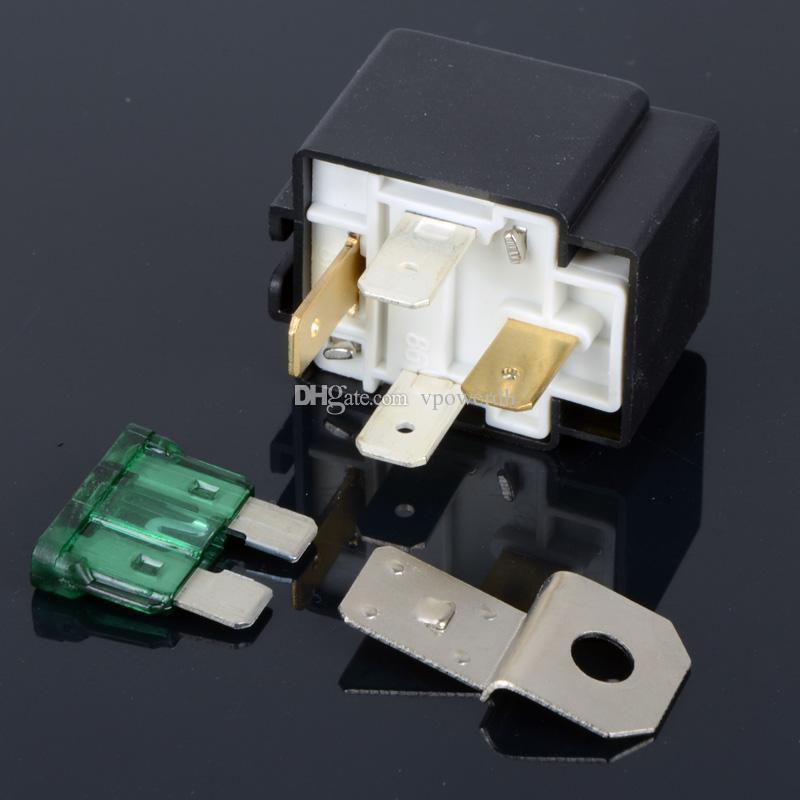 30 Amp 4 Pin Relè fusibile auto Spotlamp Spot Lampade fendinebbia Supporto scatola base M00052 VPRD