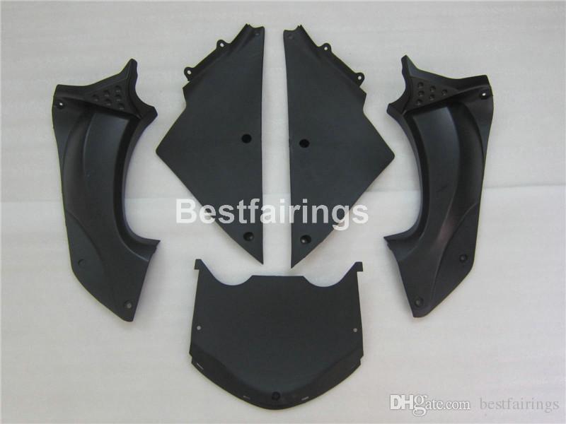 100% fit für Kawasaki Spritzgusswerkzeug Ninja ZX14R 06 07 08 09 10 11 schwarz glänzende Verkleidungen Set ZZR1400 2006-2011 OP08