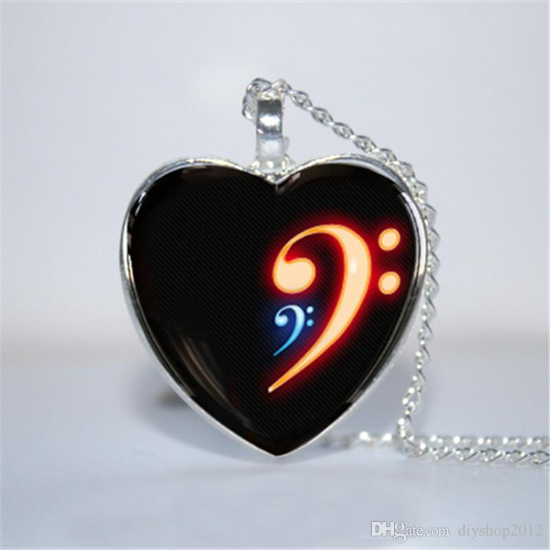 Wholesale bass clef pendant bass clef necklace music necklace wholesale bass clef pendant bass clef necklace music necklace bass clef glass photo cabochon necklace jewelry design gold charms from diyshop2012 aloadofball